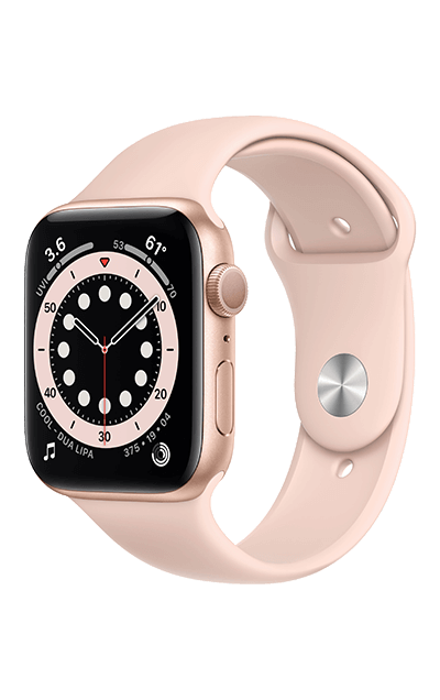 Gold Aluminium - Pink Sand Sport Band 40mm